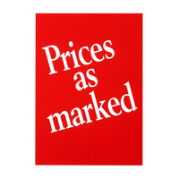 Quikstik Sign A4 Prices As Marked 10Pk