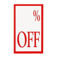 Quikstik Display Tickets % Off 10Pk