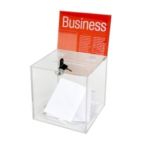 Esselte Ballot Box Large Clear Header Card Lock