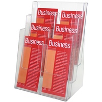 Esselte Brochure Holder DL 3 Tier Free Standing 6 Compartments