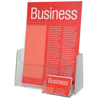 Esselte Brochure Holder A4 With Business Card Holder Free Standing