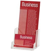 Esselte Brochure Holder DL With Business Card Holder Free Standing