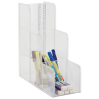 Esselte Shelf Modular System 3 Tier Comp Clear