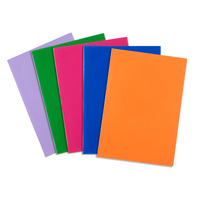"Contact Book Covering 9X7"" Book Sleeves Assorted Solid Colours 5Pk"