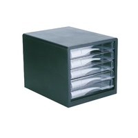 Esselte Filing Drawers 5 Clear Drawers Black Shell