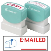 X-Stamper 2 Colour Self Inking Stamp with Icon 2025 Emailed