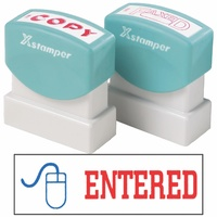 X-Stamper 2 Colour Self Inking Stamp with Icon 2027 Entered