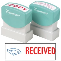 X-Stamper 2 Colour Self Inking Stamp with Icon 2030 Received