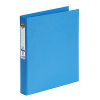 Marbig® Ring Binder PE A4 2D 25mm Sky Blue