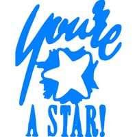 X-Stamper Self Inking Merit Stamp 11438 You Re A Star Blue