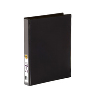 Marbig Enviro Insert Binders Clearview A4 3D Ring 25mm Black