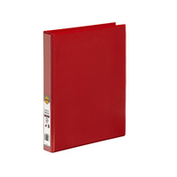 Marbig Enviro Insert Binders Clearview A4 4D Ring 25mm Red