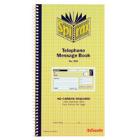 Spirax 550 Telephone Message Book - Ncr 80Pgs 160 Duplicate Sets S O