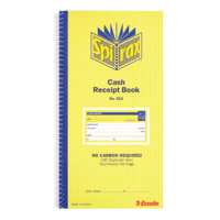Spirax 553 Cash Receipt Book Carbonless Numbered 160 Duplicate Side Open