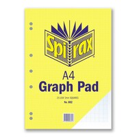 Spirax A4 802 Graph Pad 2mm Grid 25 Leaf 297X210mm