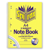 Spirax 596C Notebook 5 Subject Colour Pages A4 250 Pages 297X220mm