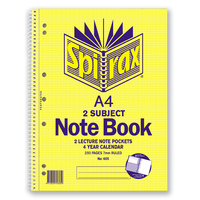 Spirax 605 Notebook 2 Subject A4 125 Leaf 297X230mm