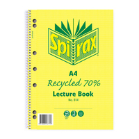 Spirax 814 Recycled Lecture Book A4 140 Page