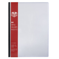 Spirax Menu Cover / Holder A4 - 3 Pvc Inserts Clear