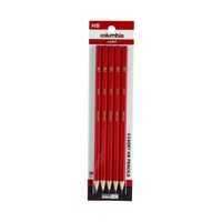 Columbia Cadet Pencil Hexagon HB Hangsell Pk 5