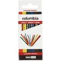 Columbia Colorsketch Pencils Half Length Assorted Pk6