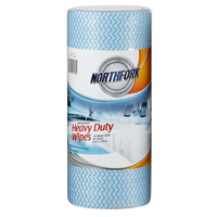 Northfork Anti Bacterial Roll - Perforated Heavy Duty Blue 30X50cm X 45M 90S