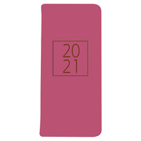 Essex PU Fashion Diary Slimline Week To View Pink 2021 Edition