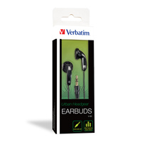 Verbatim Earbud Headphone - Black