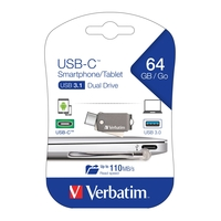 VERBATIM OTG TYPE INCIN 64GB USB 3.0