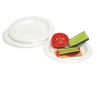 Marbig Disposable Plate Bowl Plastic Plate 260mm 10.25""