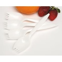 Marbig Disposable Cutlery Plastic Sporks Pk100