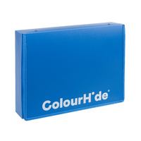 Colourhide Zipper Box File Foolscap Blue