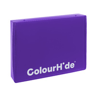 Colourhide Zipper Box File Foolscap Purple