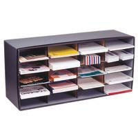 Marbig Literature Sorter - 20 Compartment Grey