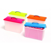 Crystalfile Carry Case Pink Lid Clear Base