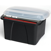 Crystalfile Enviro Porta Box With Files L490Xw400Xh285mm Black