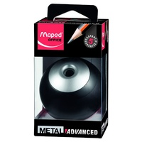 Maped 67510 Advanced Pencil Sharpener 1 Hole Canister Black/Silver