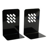 Marbig Bookends - Pair W135Xd110Xh195mm Black