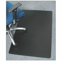 Marbig Enviro Polypropylene Chairmat 70% Recycled Rectangle Large 1200X1500mm Black