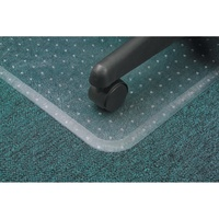 Marbig Anti Static Chairmat Low Pile Keyhole Extra Large 116X152cm Clear