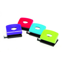 Marbig 2 Hole Punch Plastic 20 Sheet Assorted Colours