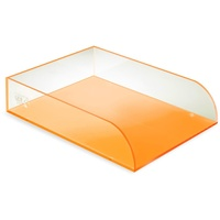 Colourhide Glo Desk Document Tray Orange