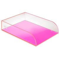 Colourhide Glo Desk Document Tray Pink
