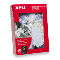 Apli 389 Strung Tickets 18X29mm White