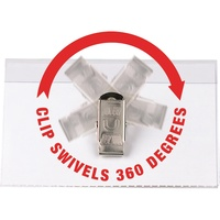 Rexel Convention Card Holders - Swivel Clip Bx50