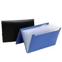 Marbig Expanding File Foolscap PP 12 Pocket Assorted