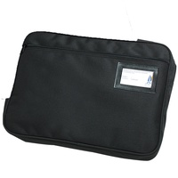 Marbig Convention Satchel Fabric Expanding Zippered Black