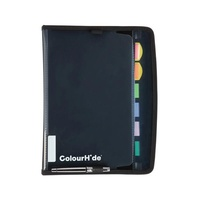 Colourhide® Zipit Expanding File PP 7 Pocket Black