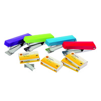 Marbig No 10 Stapler With Staples Assorted Colours