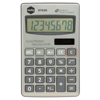 Marbig Hand Held Calculator 97630 Silver